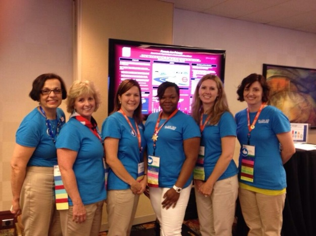 Our poster presentation at the NASN 2014 conference.  Pictured left to right: Laurie Combe, Linda Rosemeyer, Beth Pali, Brittany Lloyd, Yvonne Clarke, Regina Wysocki.