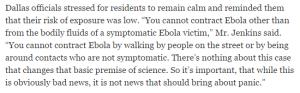 Ebola quote